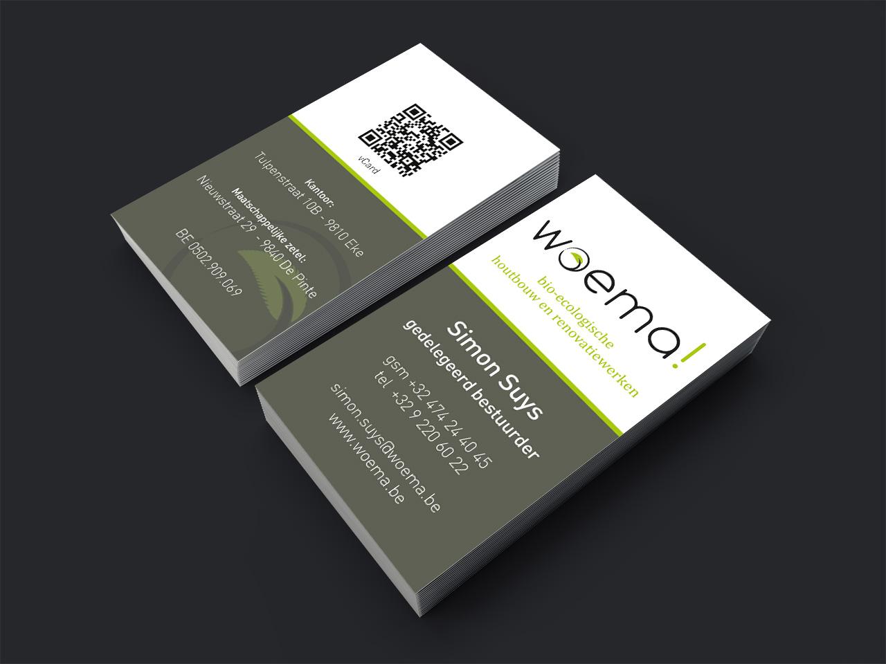 visitekaartje Woema
